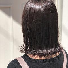 ブラウン フェミニン ミディアム 透明感 ヘアスタイルや髪型の写真・画像
