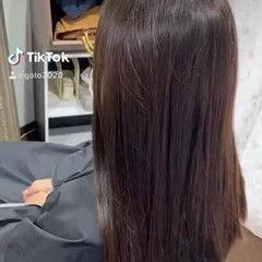 大人ハイライト フェミニン 3Dハイライト セミロング ヘアスタイルや髪型の写真・画像