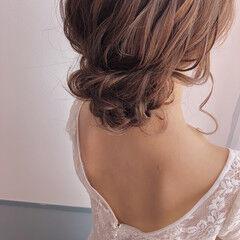 ヘアアレンジ 簡単ヘアアレンジ ヘアセット 結婚式ヘアアレンジ ヘアスタイルや髪型の写真・画像
