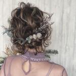 デート 成人式 結婚式 アンニュイほつれヘア