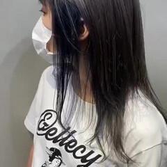 ラベンダーグレージュ グレージュ ピンクパープル ミディアム ヘアスタイルや髪型の写真・画像
