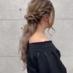 ハーフアップ ローポニーテール ポニーテール ロング ヘアスタイルや髪型の写真・画像