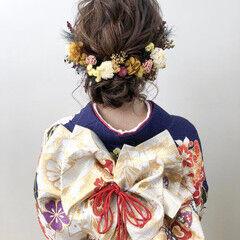 成人式 まとめ髪 エレガント ロング ヘアスタイルや髪型の写真・画像