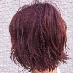 ピンク バレイヤージュ ベージュ 外国人風 ヘアスタイルや髪型の写真・画像