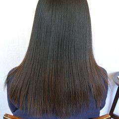 パーマ 縮毛矯正 ナチュラル ストレート ヘアスタイルや髪型の写真・画像