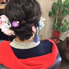 成人式ヘア 成人式 成人式ヘアメイク着付け セミロング ヘアスタイルや髪型の写真・画像