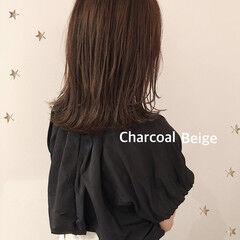 伸ばしかけ 大人かわいい ミディアム ナチュラル ヘアスタイルや髪型の写真・画像