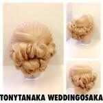 まとめ髪 編み込み 結婚式 ヘアアレンジ