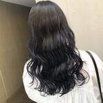 ネイビーブルー ブルーブラック ナチュラル 暗髪