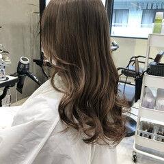 ヨシンモリ ミルクティーグレージュ ストリート マット ヘアスタイルや髪型の写真・画像