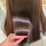 艶カラー ロング 髪質改善 艶髪