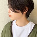 ショート ハンサムショート ショートヘア 黒髪