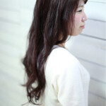 ロング ナチュラル ピンク 暗髪