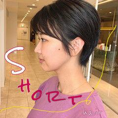 ナチュラル ショートヘア ショート 髪質改善トリートメント ヘアスタイルや髪型の写真・画像