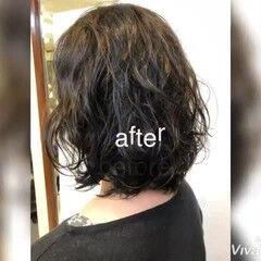 パーマ  ゆるふわパーマ パーマ ヘアスタイルや髪型の写真・画像