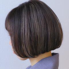 外国人風カラー モード ハイライト ベージュ ヘアスタイルや髪型の写真・画像