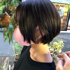 ブランジュ 丸みショート ショートヘア ナチュラル ヘアスタイルや髪型の写真・画像