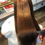 髪質改善カラー ロング 縮毛矯正 美髪
