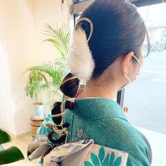 ポニーテールアレンジ 結婚式ヘアアレンジ ヘアアレンジ フェミニン ヘアスタイルや髪型の写真・画像