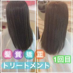 ナチュラル 大人ロング 髪質改善トリートメント 髪質改善カラー ヘアスタイルや髪型の写真・画像