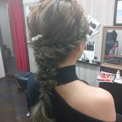 ヘアアレンジ 編み込み ヘアセット ナチュラル ヘアスタイルや髪型の写真・画像