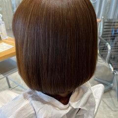 ボブ 内巻き ナチュラル ストレート ヘアスタイルや髪型の写真・画像