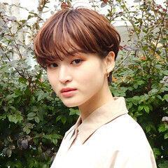 ショート ショートボブ ナチュラル コンパクトショート ヘアスタイルや髪型の写真・画像