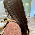 ナチュラル ロング 髪質改善トリートメント 360度どこからみても綺麗なロングヘア
