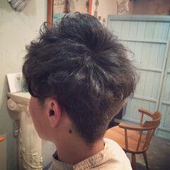 メンズ ストリート 黒髪 ヘアワックス ヘアスタイルや髪型の写真・画像