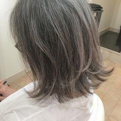 外ハネボブ 40代 大人ヘアスタイル 50代 ヘアスタイルや髪型の写真・画像