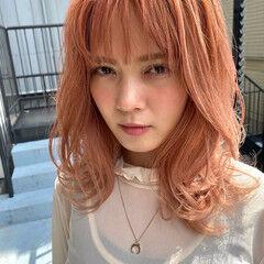 レイヤーカット ハイトーン ストリート ハイトーンカラー ヘアスタイルや髪型の写真・画像