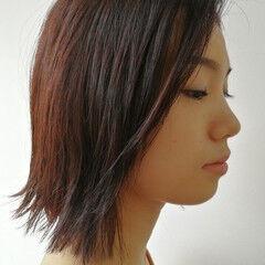 ナチュラル レイヤーカット 大人かわいい ストレート ヘアスタイルや髪型の写真・画像