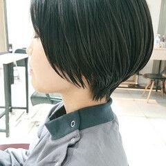 ナチュラル ショートボブ マッシュショート 簡単スタイリング ヘアスタイルや髪型の写真・画像