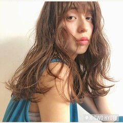 ふわふわヘアアレンジ ゆるふわパーマ ロング ふわふわ ヘアスタイルや髪型の写真・画像
