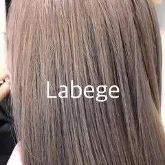 ミルクティーベージュ ラベージュ ナチュラル ロング ヘアスタイルや髪型の写真・画像