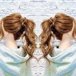 まとめ髪 セルフヘアアレンジ ロング フェミニン