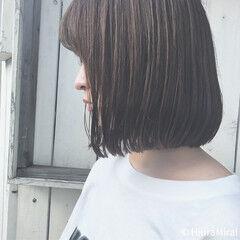 おかっぱ 涼しげ グレージュ 色気 ヘアスタイルや髪型の写真・画像