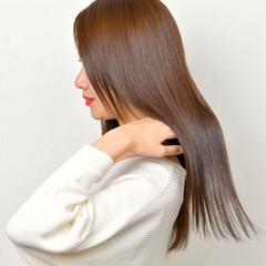トリートメント 髪質改善 ナチュラル ロング ヘアスタイルや髪型の写真・画像