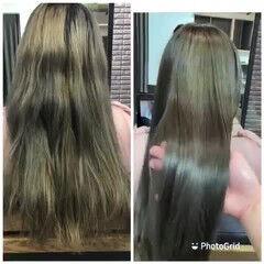 髪質改善トリートメント ナチュラル 髪質改善 トリートメント ヘアスタイルや髪型の写真・画像