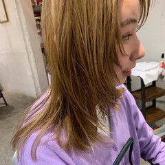 ブロンドカラー ウルフカット レイヤーカット ブリーチカラー ヘアスタイルや髪型の写真・画像