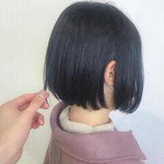 ダークカラー ナチュラル ブルーブラック 暗髪 ヘアスタイルや髪型の写真・画像