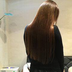 外国人風カラー ロング うる艶カラー ナチュラル ヘアスタイルや髪型の写真・画像