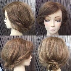 ヘアアレンジ ヘアピン ヘアアクセ セミロング ヘアスタイルや髪型の写真・画像