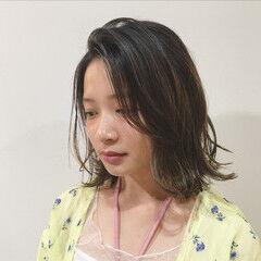 ミディアム フェミニン 大人女子 かわいい ヘアスタイルや髪型の写真・画像