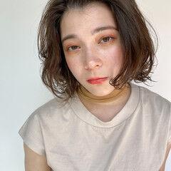 コテ巻き風パーマ デジタルパーマ パーマ ヘアスタイルや髪型の写真・画像