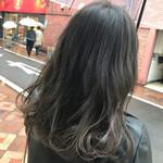 外国人風カラー ナチュラル グレージュ 暗髪