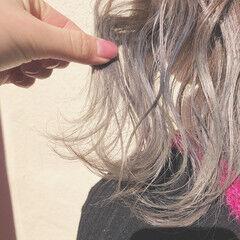 透明感 ストリート ホワイトシルバー ボブ ヘアスタイルや髪型の写真・画像