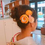 成人式 ヘアアレンジ ミディアム 和装