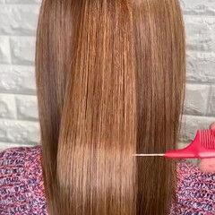 サイエンスアクア 髪エステ セミロング 艶髪 ヘアスタイルや髪型の写真・画像