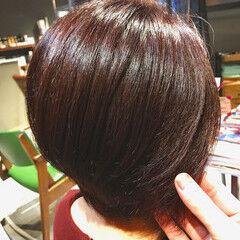 ナチュラル oggiotto 大人ショート ラベンダーピンク ヘアスタイルや髪型の写真・画像